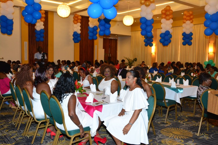 Another section of the gathering at the Easter Brunch held at the Pegasus Hotel. Some of the delegates of the upcoming Miss Guyana Renaissance Pageant are pictured in the foreground