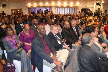 The Guyanese diaspora in London came out in their numbers to meet with President David Granger today