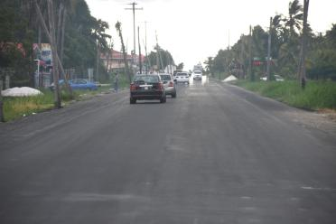 Completed road expansion at Harlem, WCD
