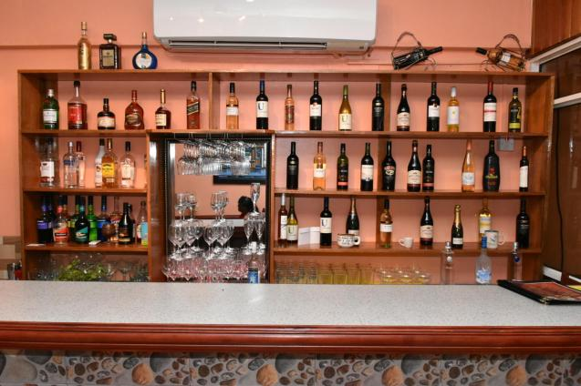 A Selection of the wines at the Island Style Cafe & Bar