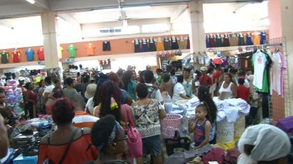 Overview of the back to school shopping today at the Guyana Stores, downtown Georgetown