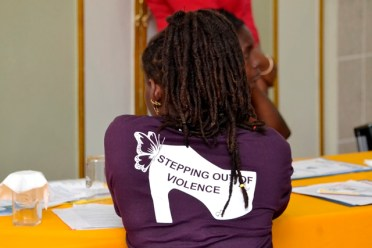 Participant at the round table discussion on Gender Based Violence and HIV.