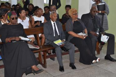 Some of the relatives and friends of the late Sandra Jones gathered at the service