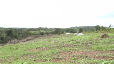 The cleared site where the Mabaruma solar farm will be constructed