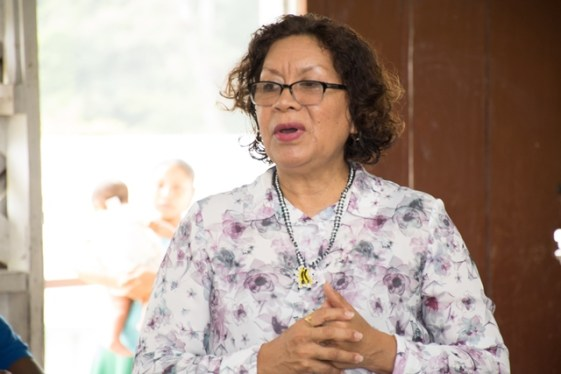 Minister within the Ministry of Indigenous Peoples' Affairs, Valerie-Garrido-Lowe.