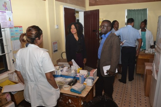 Board of Directors members conducting an assessment at the Industry Health Centre.