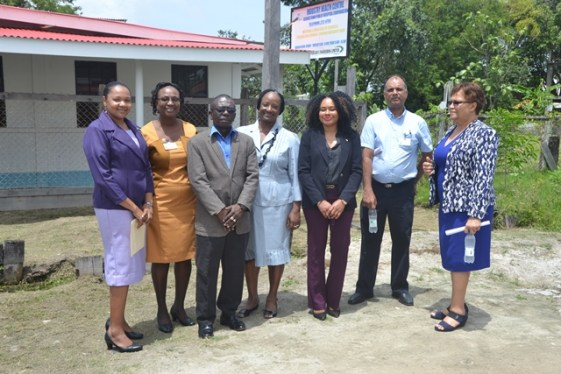 Guyana Public Health Corporation Board of Directors, Saska Sertimer, Head Doctor at the Industry Health Centre, and Brigadier George Lewis, GPHC, Deputy Chief Executive Officer at the Industry Health Centre, East Coast Demerara.