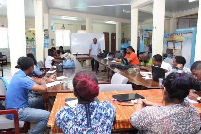 The participants at the training