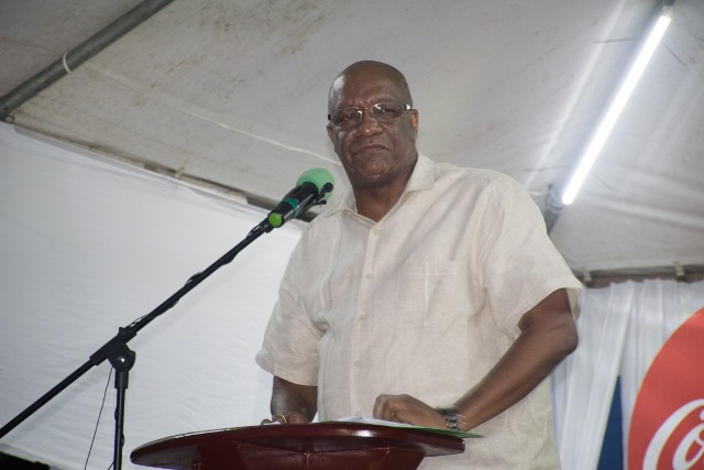 Minister of State, Joseph Harmon addressing the gathering at the official launch of Linden Town Week 2018