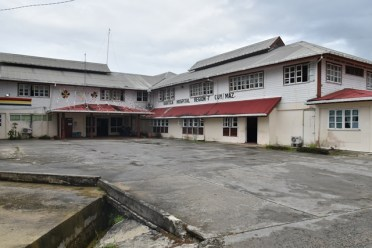 A view of the Bartica Regional Hospital