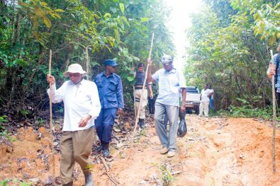 Commission chairman retired Justice Donald Trotman at trekking along to the Lindo Creek