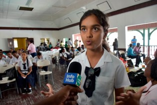 Berbice High School student, Prenita Ramcharitar.