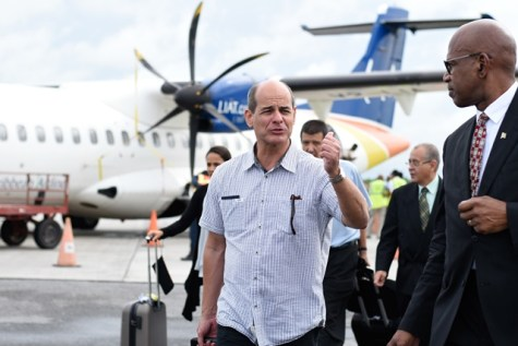 Cuba's Vice Foreign Minister, Hon. Rogelio Sierra Diaz arrives at the Eugene F. Correia International Airport for a two-day visit.
