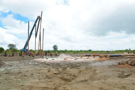 Ongoing works on the water treatment plant at Sheet Anchor.