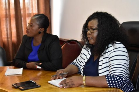 Director of Regional and Clinical Health Services, Dr. Kay Shako and Minister within the Ministry of Public Health Dr. Karen Cummings.