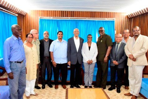 President David Granger and members of the Ethnic Relations Commission.