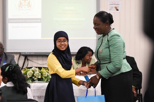 Top student, Nalia Rahaman, 529 marks.