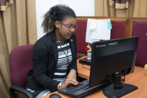 Martina Nedd at work