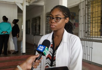 Doctor-In-Charge, Enterprise Health Centre, Dr Nicole Harris-Linton.