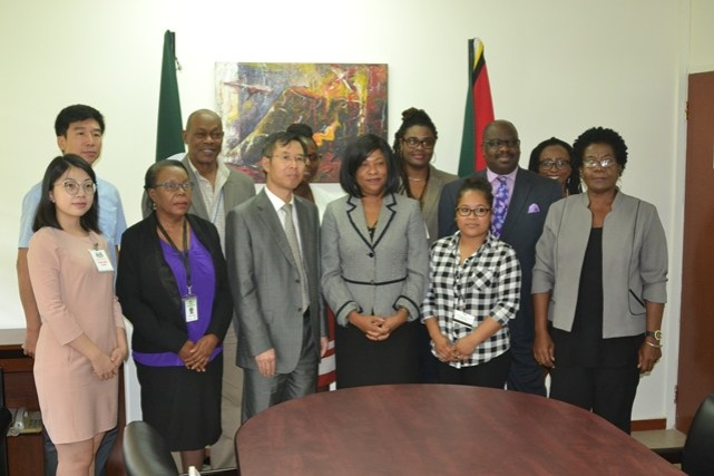 Representatives of the University of Guyana, the Embassy of the People's Republic of China and University students at the signing of the MoU between the two bodies yesterday.