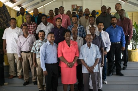 Fathers and members of the Department of Education Region 5.