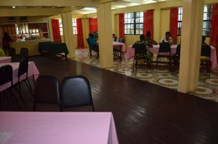 Extended dining hall of the residence.