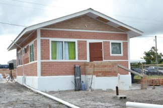 The low-cost home which was constructed with materials sourced from Region 10.