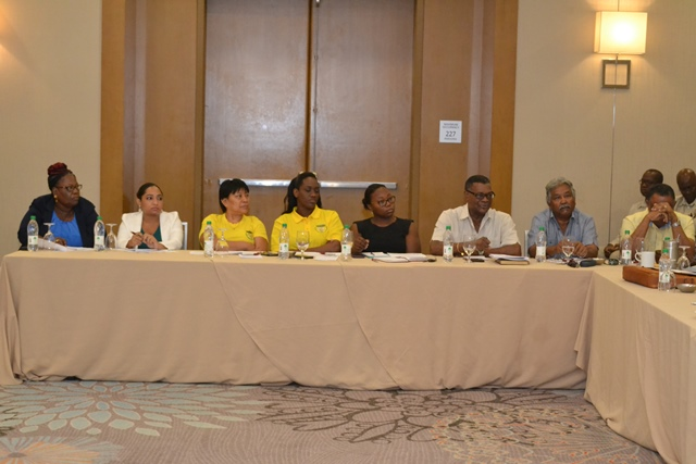Stakeholders at the mining consultation on Wednesday.