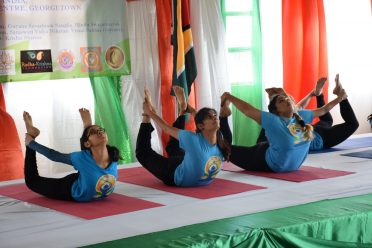Yoga demonstration by members of the Swami Vivekananda Cultural Centre