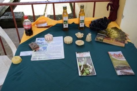 A sampling of items made from bees' wax.