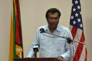 Minister of Public Security Khemraj Ramjattan.