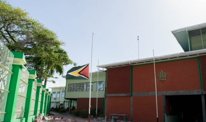 The Golden Arrowhead today flew at half-staff in honour of the lives lost in the piracy attack in Surinamese waters.