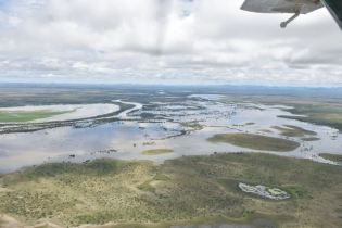 Scenes of flooded areas in the Rupununi, Region Nine.