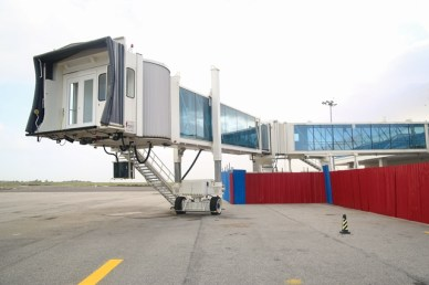 The tested boarding bridges.