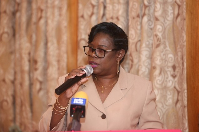 Permanent Secretary of the Ministry of Public Health, Colette Adams.