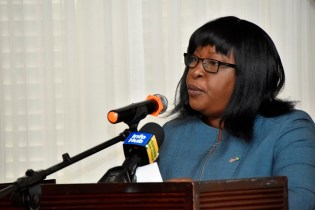 Minister within the Ministry of Public Health, Dr. Karen Cummings delivering the feature address.