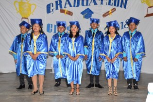 The Bina Hill Institute Youth Learning Centre's graduating class of 2018