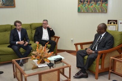 Minister of State, Joseph Harmon and Brazilian Investors, Luis Panelli and Alexandre Saverin during the meeting