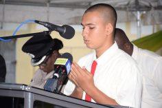 Constable 25042 Kayum offers a Muslim prayer