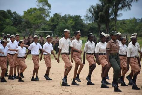 Young cadets who participated in the National Cadet Corps Cadet Camp.