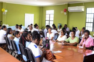 Participants at the Ministry of Social Cohesion's sensitisation session