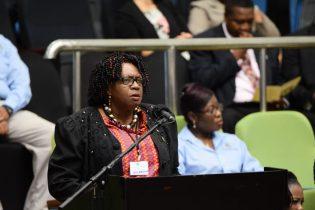 Chairperson of the Regional Democratic Council Region Four, Genevieve Allen