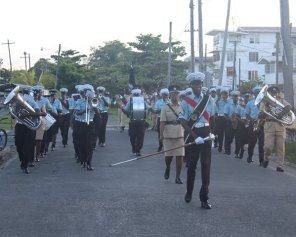 Scenes from the Guyana Police Force (GPF) route march.