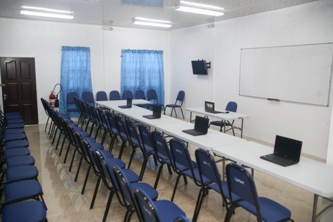 One of the classrooms prepared for lectures at the IHSE