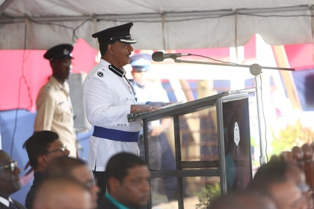 (ag) Commissioner of Police, David Ramnarine addressing the gathering