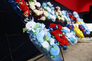 Some of the wreath that were laid