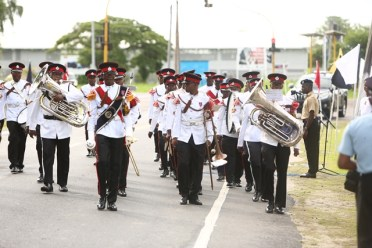 Scenes from the wreath laying and march pass ceremony
