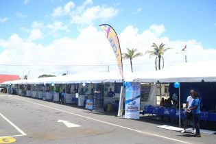 Some of the booths at the event