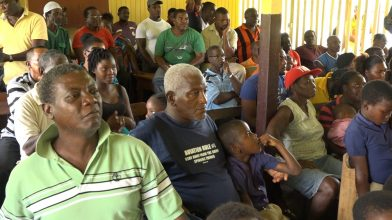 Some of the Baracara residents during the meeting