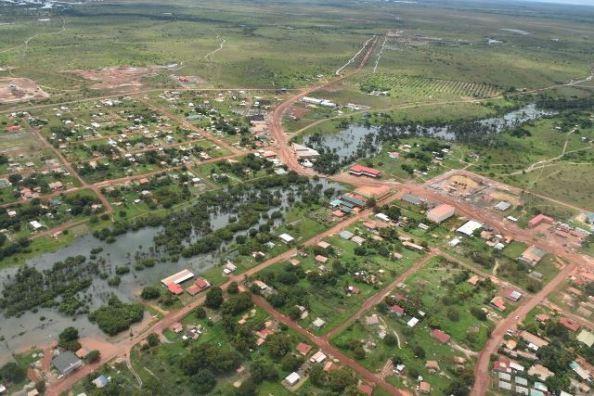 Flood waters in Region Nine.